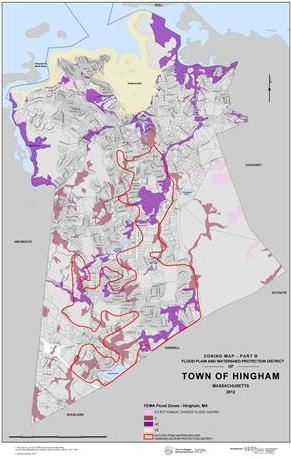 Hingham Zoning Map Part B