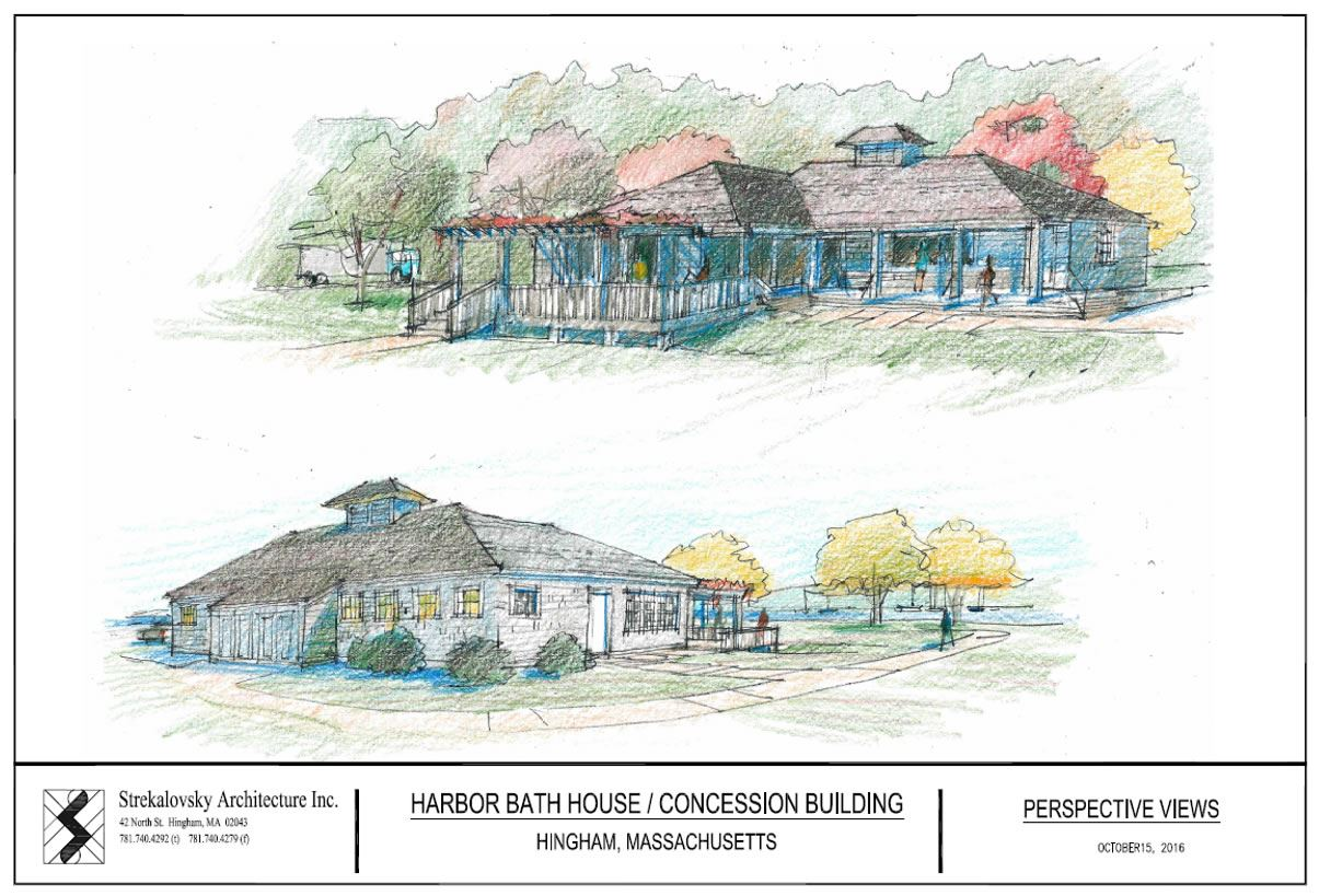 Sketch of Proposed Bathhouse
