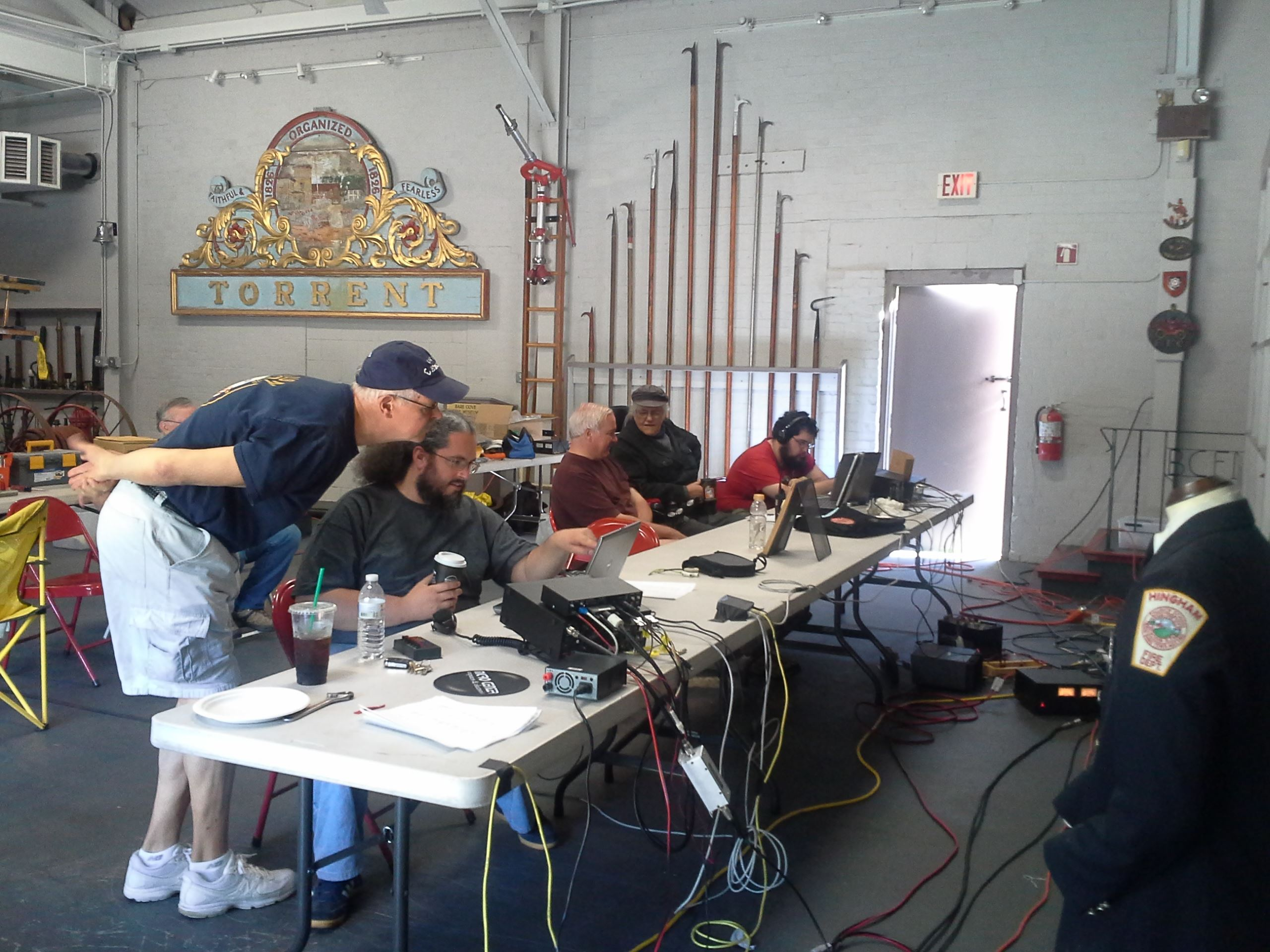 Ham Radio Operators at Bare Cove Fire Museum